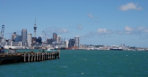 This is Auckland, the city in which I'll land. It's very far away from my current home.
