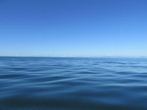Still blue ocean waters.
