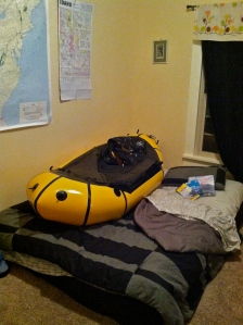 Pack-raft in bed