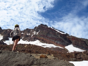 Off the beaten-trail: Beneath the flanks of Broken Top.