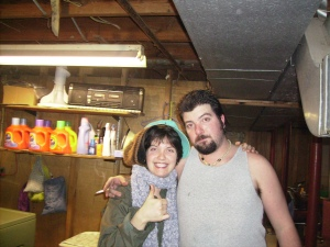Goofing off a few years back in the good ol' basement.