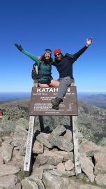 Rookie and Mary, Summit of Mount Katahdin, October 11, 2016.